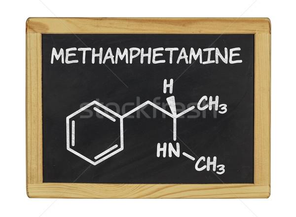 chemical formula of methamphetamine Stock photo © Zerbor