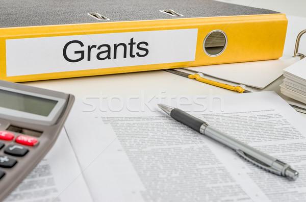 Folder with the label Grants Stock photo © Zerbor