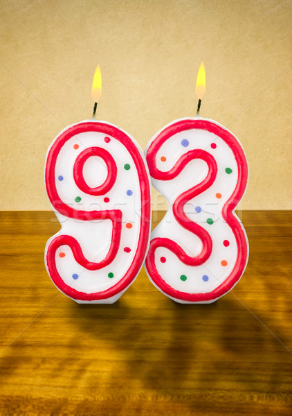 Burning birthday candles number 93 Stock photo © Zerbor