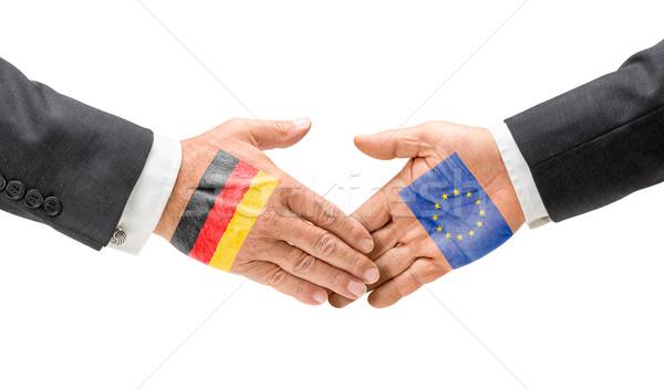 Germania raggiungere fuori mani business Foto d'archivio © Zerbor