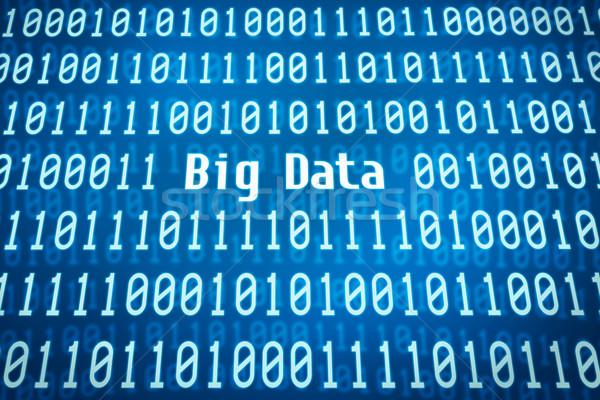 Ikili kod kelime büyük veri merkezi soyut güvenlik Stok fotoğraf © Zerbor