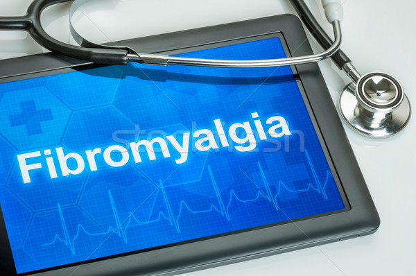 Tablet with the diagnosis Fibromyalgia on the display Stock photo © Zerbor