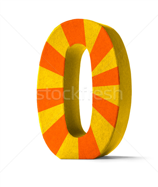 Colorful Paper Mache Number on a white background  - Number 0 Stock photo © Zerbor