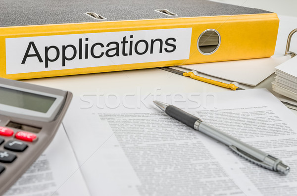 Folder with the label Applications Stock photo © Zerbor