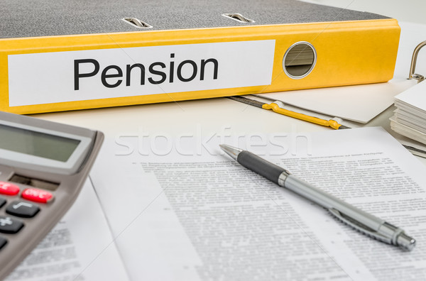 Folder with the label Pension Stock photo © Zerbor