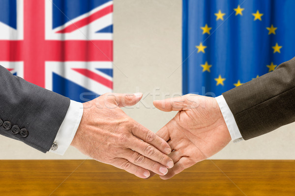 Representatives of the UK and the EU shake hands Stock photo © Zerbor