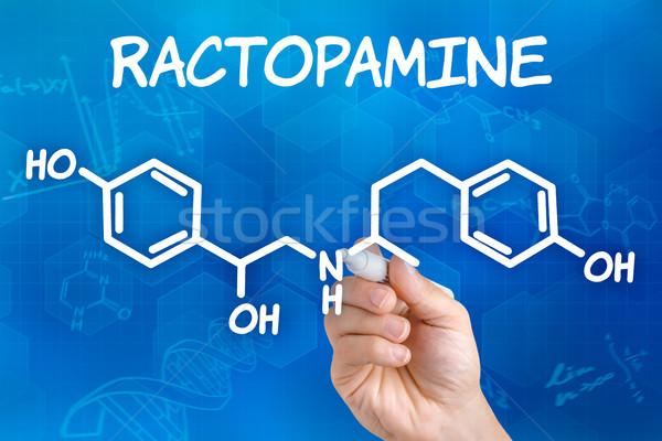 Mano pluma dibujo químicos fórmula tecnología Foto stock © Zerbor