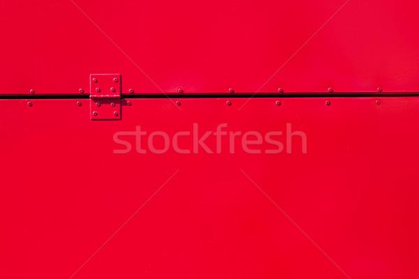 Czerwony malowany metal zawias budowy tle Zdjęcia stock © Zerbor