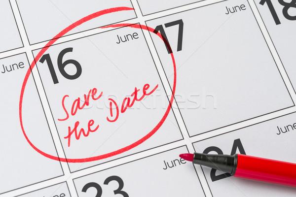 Salvare data scritto calendario 16 party Foto d'archivio © Zerbor