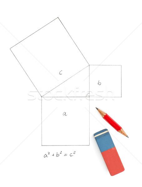 Pythagorean theorem Stock photo © Zerbor
