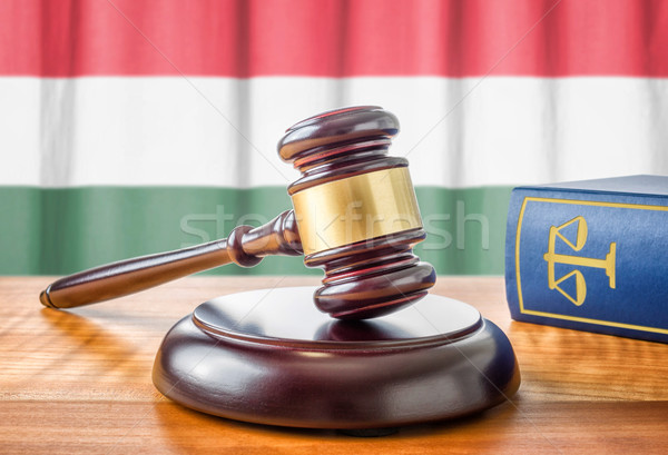 A gavel and a law book - Hungary Stock photo © Zerbor