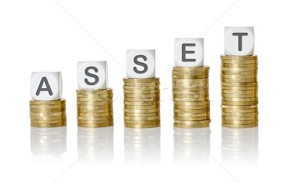 érme levél kocka nyereség üzlet pénz Stock fotó © Zerbor