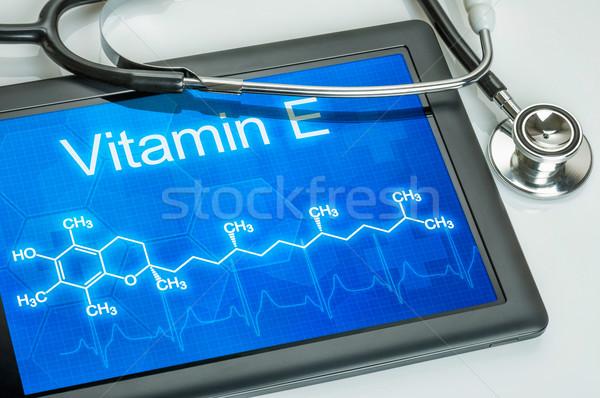 タブレット 化学 式 ビタミン コンピュータ 医師 ストックフォト © Zerbor