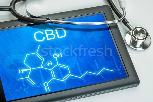 Tablet chemische formule computer arts gezondheid Stockfoto © Zerbor