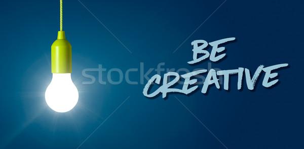 Glowing light bulb - Be creative Stock photo © Zerbor