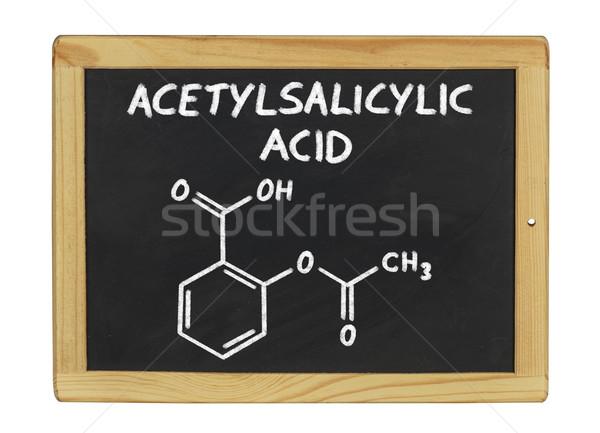 Químicos fórmula ácido pizarra escuela marco Foto stock © Zerbor