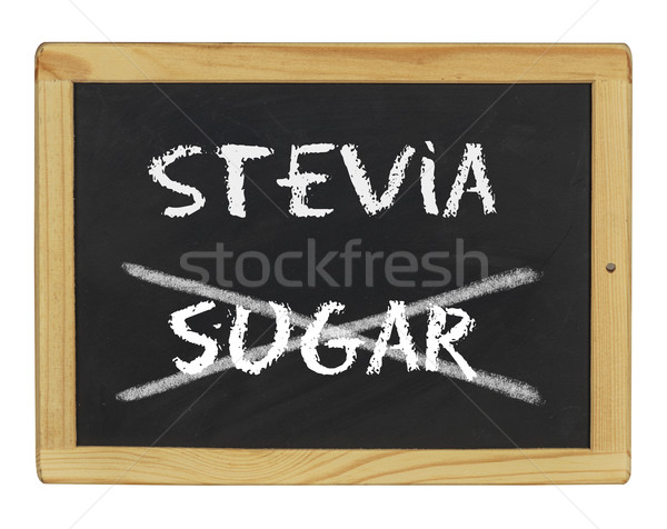 chalkboard with stevia and sugar written on it Stock photo © Zerbor