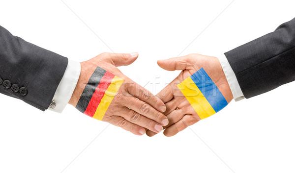 Germania Ucraina raggiungere fuori mani business Foto d'archivio © Zerbor