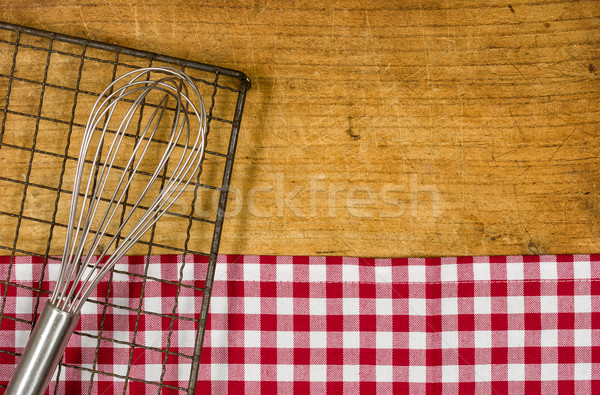 Fából készült habaró hűtés fogas terv fém Stock fotó © Zerbor