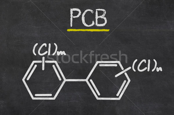 Blackboard with the chemical formula of PCB Stock photo © Zerbor