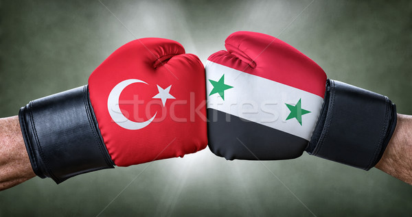A boxing match between Turkey and Syria Stock photo © Zerbor