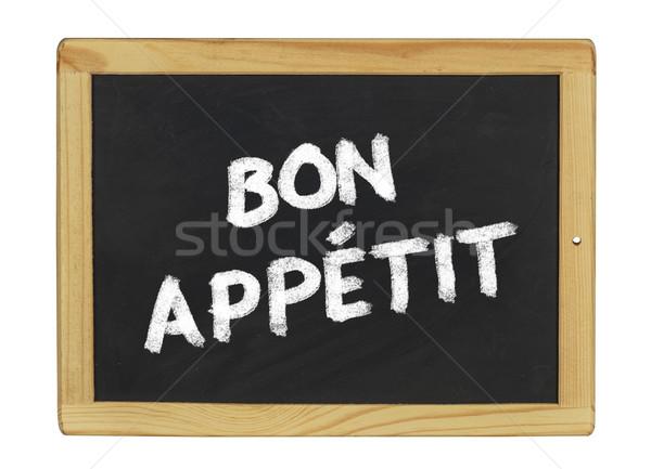 bon appetit on a blackboard Stock photo © Zerbor