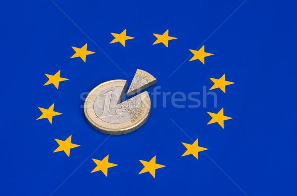 Stockfoto: Euro · munten · europese · vlag · geld