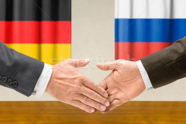 Niemcy Rosja Shake Hands ręce strony spotkanie Zdjęcia stock © Zerbor