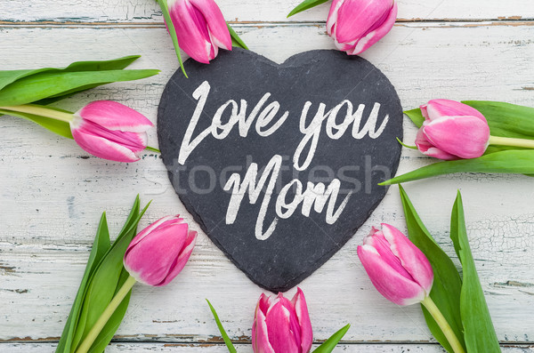 Szeretet anya írott felirat textúra tavasz Stock fotó © Zerbor