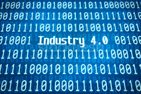 Binary code with the word Industry 4.0 in the center Stock photo © Zerbor