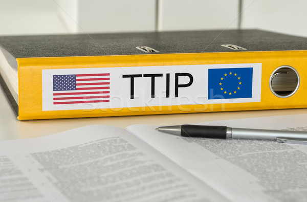 Folder with the label TTIP Stock photo © Zerbor