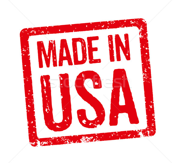 Red Stamp - Made in USA Stock photo © Zerbor