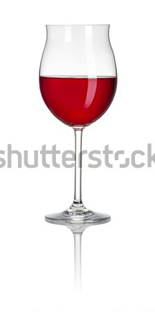 Filled Burgundy glass on a white background Stock photo © Zerbor