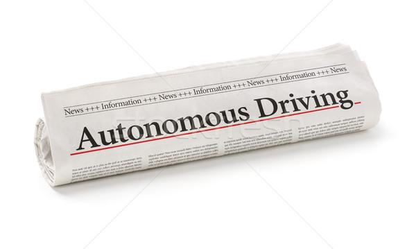 Tekert újság főcím vezetés papír autó Stock fotó © Zerbor
