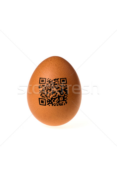 egg with qr code Stock photo © Zerbor