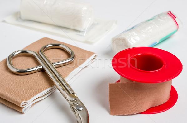 Ubieranie się materiału muzyka opieki bezpieczeństwa nożyczki Zdjęcia stock © Zerbor