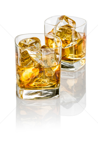 Two glasses of whisky Stock photo © Zerbor