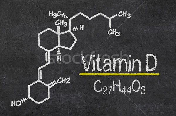 Blackboard with the chemical formula of Vitamin D Stock photo © Zerbor