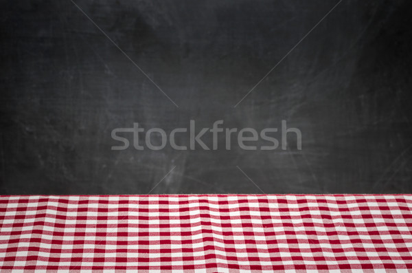 Stok fotoğraf: Masa · örtüsü · tahta · ev · arka · plan · uzay
