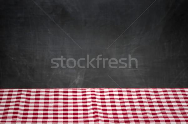 Masa örtüsü tahta ev arka plan uzay Stok fotoğraf © Zerbor