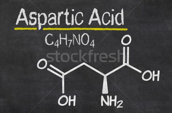 Blackboard with the chemical formula of Aspartic acid Stock photo © Zerbor
