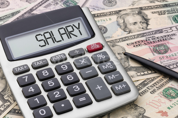 Calculator with money - Salary Stock photo © Zerbor