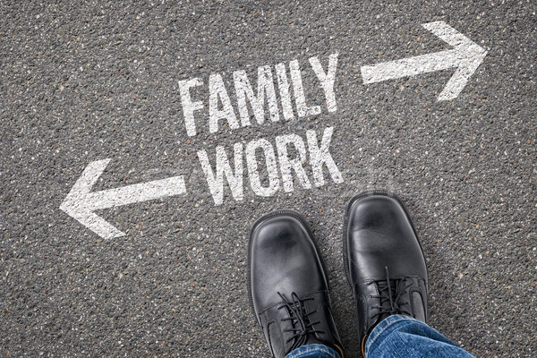 Decision at a crossroad - Family or Work Stock photo © Zerbor