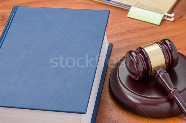 A law book with a gavel  Stock photo © Zerbor