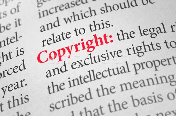 Tanım kelime telif hakkı sözlük hukuk bilgi Stok fotoğraf © Zerbor