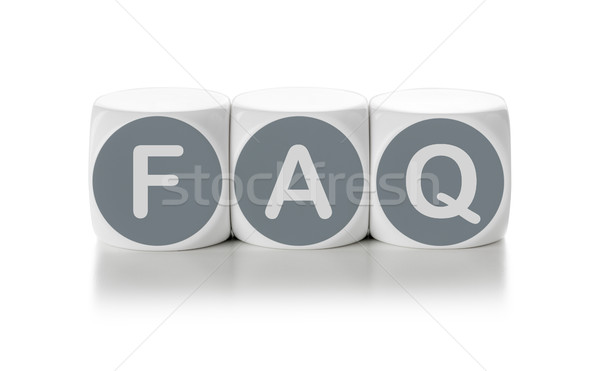 Letter dice on a white background - FAQ Stock photo © Zerbor