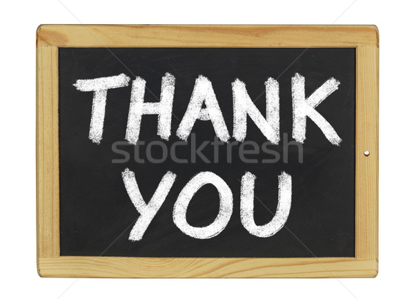 Thank You written on a blackboard Stock photo © Zerbor