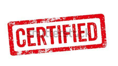 Rouge tampon certifié design cadre écrit Photo stock © Zerbor