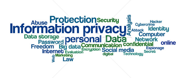 Word Cloud - Information privacy Stock photo © Zerbor
