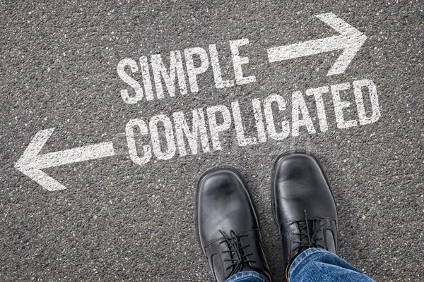 Decisão simples complicado estrada sucesso Foto stock © Zerbor